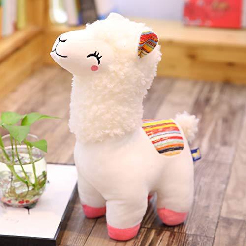 25 cm Alpaca Llama felpa sonrisa rayas animales juguete de