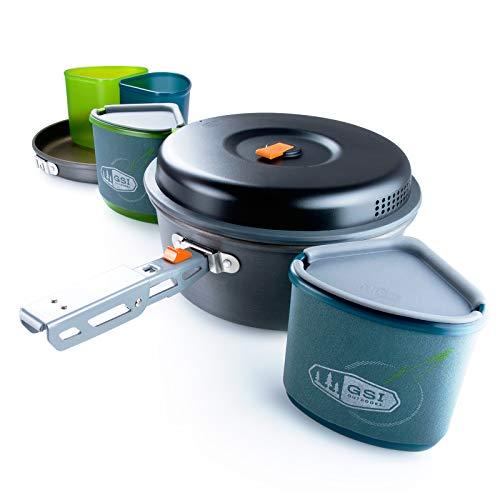 GSI Camping Koch Geschirr Set Pinnacle Topf Pfanne Outdoor Küche Stapelbar 11tlg