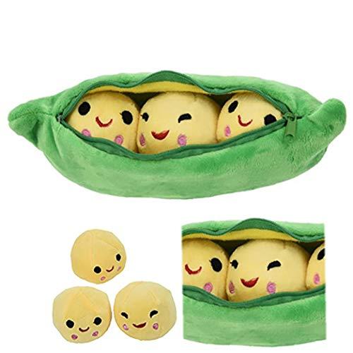 hjgnbiohg Erbsen-in-a-pod Spielzeug Plüsch Nette Erbsenschote Form Pflanze Kissen Simulation Gemüse Puppe Stuffed Weiches Kreatives Lustiges Spielzeug … (50cm)