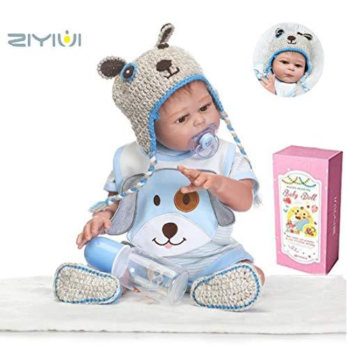 HRYEOY Doll 50 cm 20 Pulgadas Muñeca Reborn Dolls Cuerpo Entero Silicona Blanda Recién Nacido Niño Muñeca Reborn Hecho a Mano Realista Magnético Juguete Niño Regalo