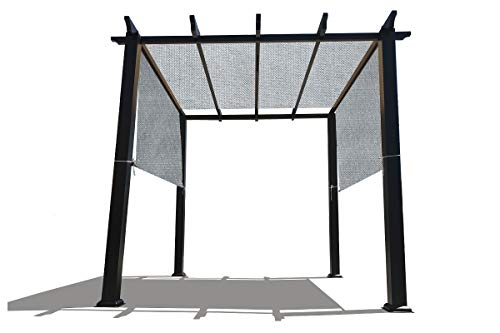 Alion Home Custom HDPE Permeable Canopy Sun Shade Cover Replacement with Rod Pockets for Pergola (14' x 10', Grey)