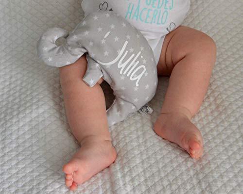 """Saquito térmico de semillas""""elefante"""", para bebé y personalizado. Nuestro saco térmico es ideal para aliviar los cólicos, calentar la cuna y relajar al recién nacido. Regalo original y hecho a mano"""