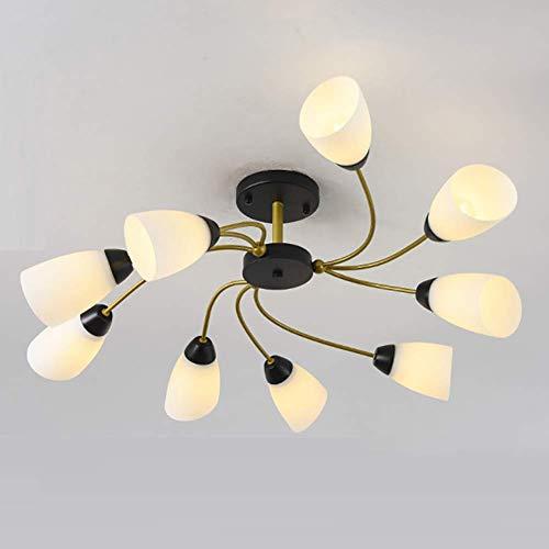 Lámpara de techo Nordic moderna, minimalista, moderna, para dormitorio, techo, europeo, restaurante, personalidad creativa para salón, 9 portalámparas, 110-240 V