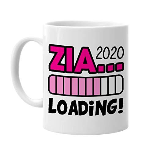 Gattablu Tazza Mug 11 oz Futura Zia Loading Personalizzata con L'Anno! Idea Regalo Sorpresa Nascita di nipotino o nipotina!