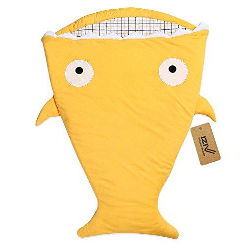 iZiv - Saco de dormir de algodón para bebé, diseño de pez, algodón grueso, 0 a 3 años multicolor color 1 Talla:0-3 ans
