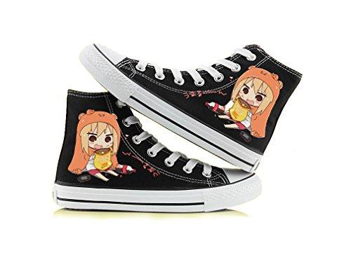 Telacos Himouto! Umaru-chan DOMA Umaru Cosplay Schuhe Canvas Schuhe Sneaker Schwarz/Weiß 1