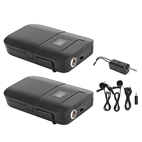Lavalier-microfoon, automatische verbinding Slint-reversmicrofoon Tweekanaals met led-display voor podiumvergaderingen…