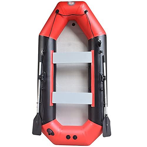 Bote Inflable Outdoor Water Drift Fuente Inflable Barco Pesca al Aire Libre Kajak Inflatable Barco para Paseos en Bote, Pesca, Lagos, Ríos (Color : Red, Tamaño : 300x145x38cm)