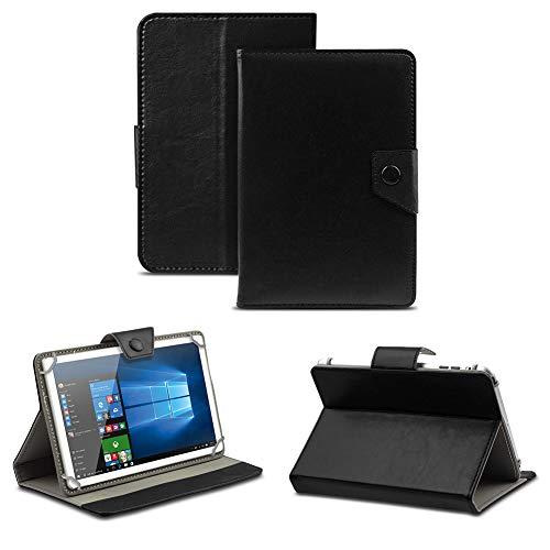 NAUC Robuste Tablet Schutzhülle für Captiva Pad 10 3G aus Kunstleder Tasche Hülle Standfunktion Cover Hülle Universal, Farben:Schwarz