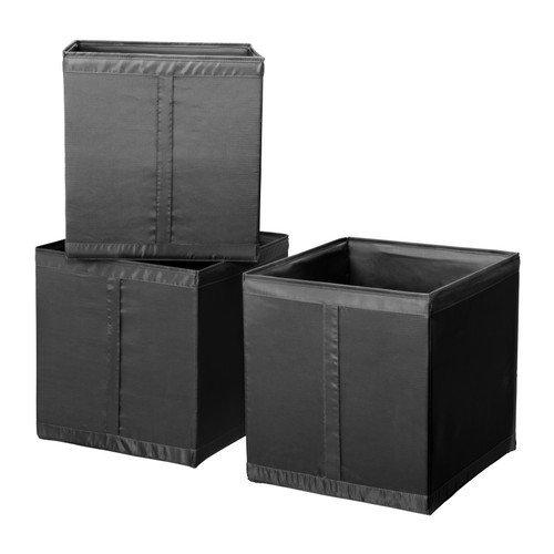 ★スクッブ / SKUBB ボックス / ブラック 3ピース[イケア]IKEA(20210530)
