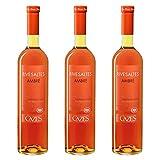 Cazes Rivesaltes Ambré 2005, appellation rivesaltes, vin blanc, lot de 3 bouteilles