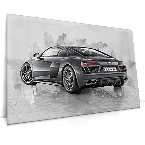CanvasArts Audi R8 V10 - Leinwand Bild auf Keilrahmen - Wandbild Leinwandbild (60 x 40 cm, Leinwand auf Keilrahmen)