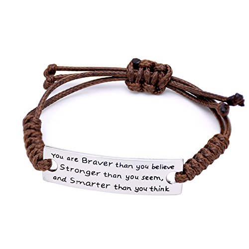 O.RIYA You are Braver Than You Believe Bracelets (Brown)