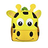 DMM Supplies Mochila Happy Animals Jirafa Guardería, Unisex niños, Amarillo, Talla...