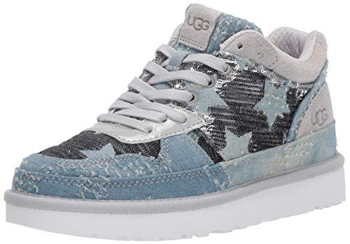 UGG Damen Highland Sneaker Schuh, Grey Violet Sequins Sterne, 38 EU