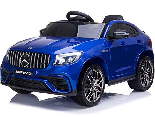 BC BABY COCHES Mercedes GLC 63S - Coche eléctrico para niños con BATERÍA 12v con Ruedas Caucho y Asiento Polipiel, Mando a Distancia (Blanco)