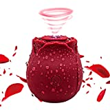 Rechargeable Waterproof Rose Toy with 10 Gears - 2021 Upgraded Rose Flower Toy for Women Washable