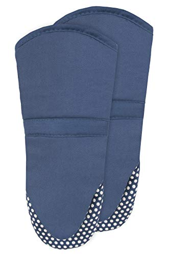 RITZ Royale Silicone Oven Mitt, 2-Pack, Federal Blue