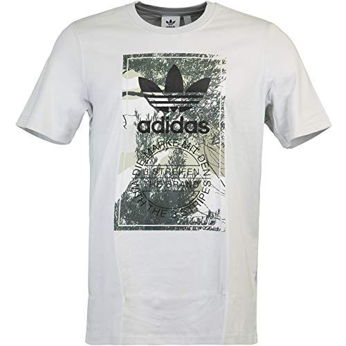 adidas Camo Tongue T-Shirt (L, Grey)