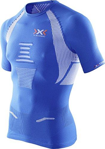X-Bionic The Trick T-Shirt de Running Fonctionnel pour Homme Small Multicolore - Royal Blue/White