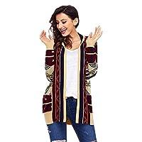 Shiyingカーディガンセーターの女性の と冬のジャケット大型ニット長袖ルーズレディースクリスマス用セーター yangain (Color : B, Size : S)