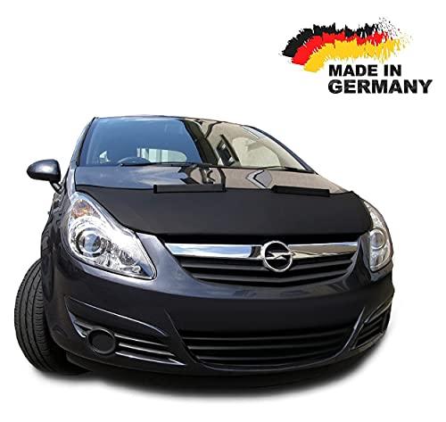 Black Bull Protezione Cofano per Opel Corsa D Copertura Auto NERO Front Tuning