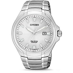 Citizen Reloj Analógico para Hombre de Cuarzo con Correa en Titanio BM7430-89A