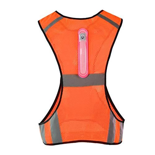 DAUERHAFT Chaleco de Seguridad Chaleco Reflectante a Prueba de Sudor para Deportes al Aire Libre por la Noche(Orange)
