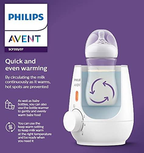 Philips Avent Fast Bottle Warmer, Warms Milk/Baby Food in 3 mins, SCF355/07, White