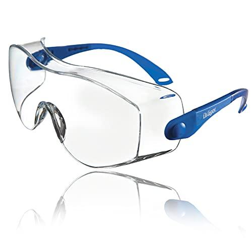 Dräger X-pect 8120 Surlunettes de Protection | 1 paire de lunettes de sécurité réglables | Pour lagriculture, lindustrie et le laboratoire