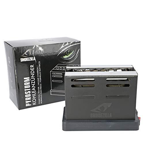 Smokezilla® Pyrostrom RIFT Elektrischer Kohleanzünder - Perfektes Shisha Zubehör - 6 Kohlen Gleichzeitig - Praktischer EIN- & Aus-Knopf (800 Watt)