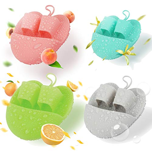 Silicone Face Cleanser and Massager brush for Sensitve, Delicate, Dry Skin (4pcs Set)