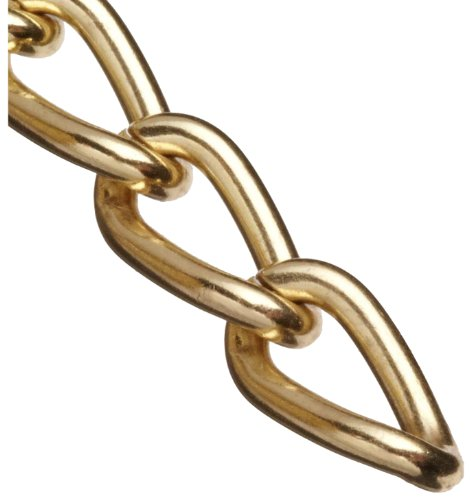 Campbell 0712517 Hobby and Craft Twist Chain, Brass Plated, #250 Trade, 0.099