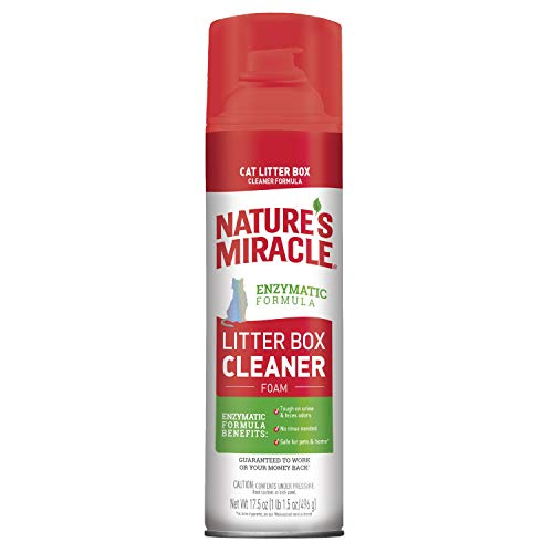 Nature's Miracle Litter Box Cleaner Foam, 17.5 Fl Oz (Pack of 1)