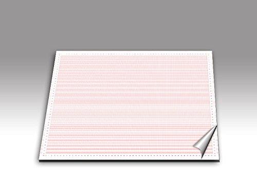 Millimeterpapier als DIN A2 Schreibunterlage/rot