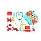 SYXX Kinder simulación Hospital de Niños Los niños Juguetes de simulación doctor Nurse juguete Caja de herramientas de inyección auricular hospital kit médico de simulación