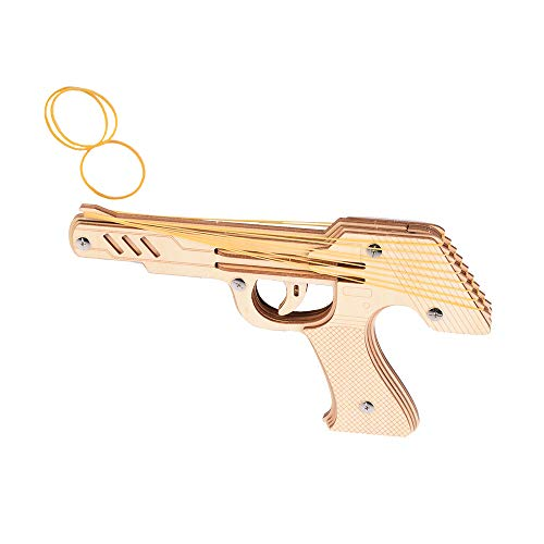 Wooden Assembly 3D Puzzle Kits Rubber Band Gun Toy Gun Desert Eagle Boys Toys Wooden Toy Guns Best Present for Men Wooden Pistol for Shooting Game Kids Toys for Pretend Play Easy Assemble Wood Toy