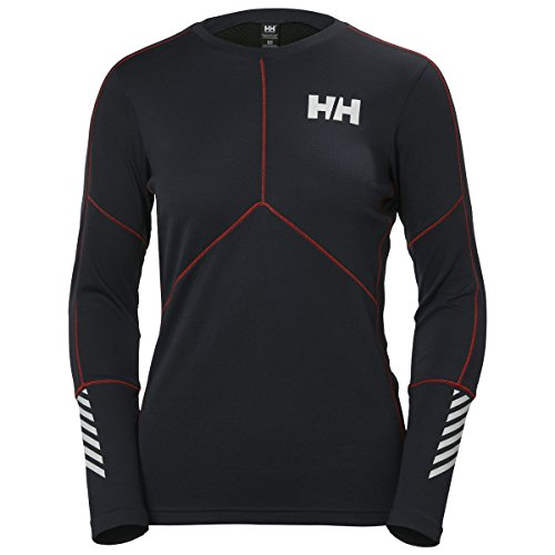 Helly Hansen W HH LIFA Active Crew Camiseta Deportiva, Mujer, Azul (Azul Oscuro), X-Large (Tamaño del Fabricante:XL)