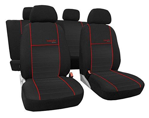 Autositzbezüge, Schonbezüge Trend Line Passend für Seat Ibiza - Universal Stoffsitzbezug Zum Sonderpreis!!! in Diesem Angebot Rot.