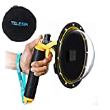 TELESIN Gopro Dome Port for GoPro 7/6/5 Black Underwater 6 inches GoPro Diving Dome Port with Waterproof Cover Case + Floating Bobber Handle + Trigger