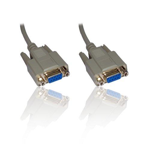 10 m null modem 9-9 F kabel f