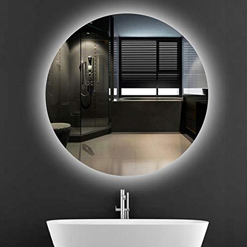 L&ED Espejo De Baño Redondo Retroiluminado, Espejo De Vanidad con Luz LED con Luz, Montado En La Pared, Maquillaje, HD