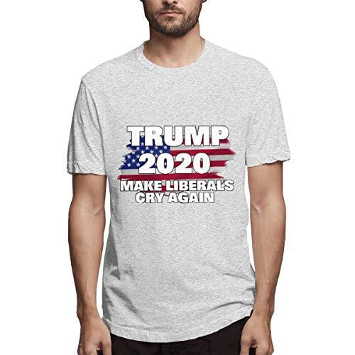 Fa Ruxue1 Make America Great Again Men's Short Sleeve T-Shirts Comfort Soft Men's T Shirt,Gray,L