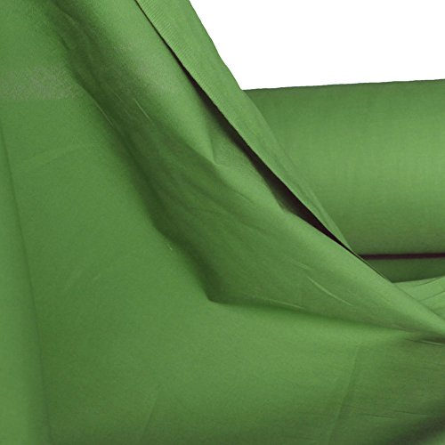 TOLKO Baumwollstoff aus 100% Oeko-Tex Baumwolle | 25 leuchtende Farben Uni | 150cm breit Baumwoll-Nesselstoff als Kleiderstoff Dekostoff Vorhang-Stoff Bezugsstoff Webstoff Meterware 50cm (Antik -Grün)