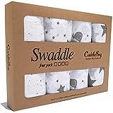 Mantas de Muselina Unisex CuddleBug | Paquete de 4 | Sabanas de Envolver, Paños...