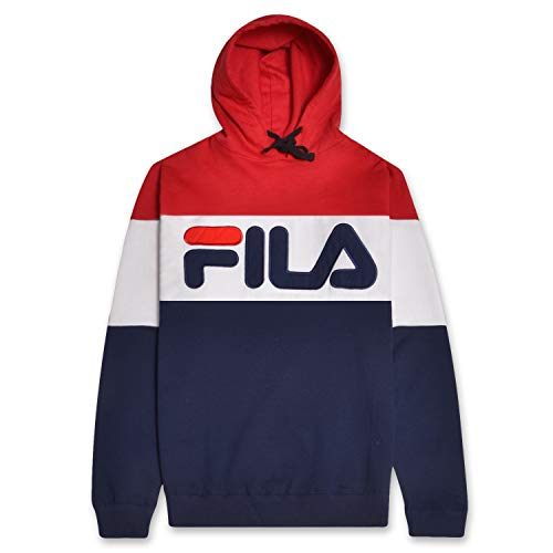 Fila Mens Big and Tall Colorblock Pullover Hoodie