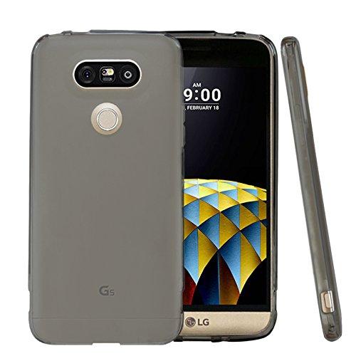 TBOC® Funda de Gel TPU Negra para LG G5 de Silicona Ultrafina y Flexible