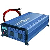 PowerBright 1100 Watts Power Inverter 12V to 110V, Modified Sine Wave Car Inverter, DC to AC Converter with Dual 110 Volts AC...