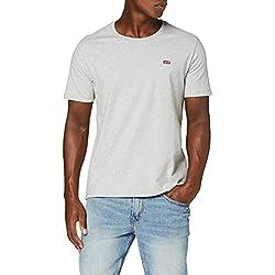 Camiseta gris Levi's con logo bordado en el pecho