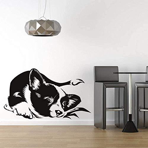 Muursticker Decal Leuke Hond Slaapbank Vinyl Muursticker voor Kinderkamer Muursticker Slaapkamer Kunstmuurschildering Woondecoratie 59X34 cm